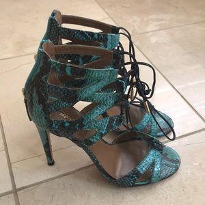 Aquazzura python sandals